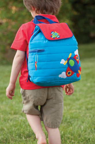 quilted airplane backpack for boys