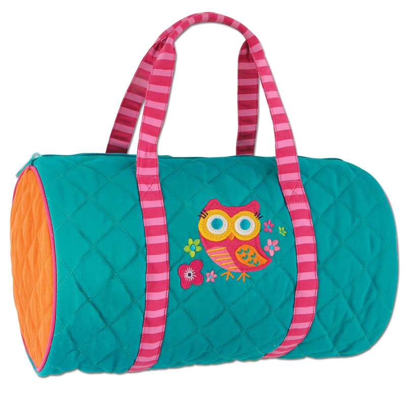 Quilted Owl Duffle Bag for Kids