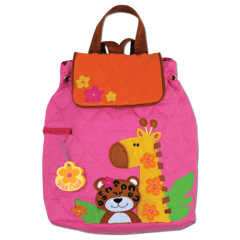 Quilted Girl Zoo Animals Backpack for Toddlers